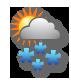Bewölkt mit starkem Schneefall
