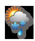 Bewölkt mit Regen oder Schneefall